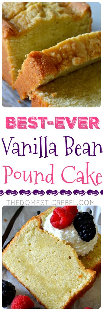 BEST-EVER VANILLA BEAN POUND CAKE COLLAGE