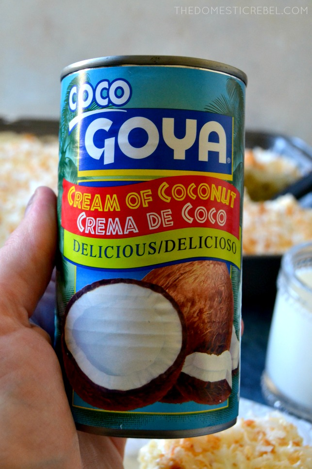 CAN OF GOYA BRAND CREAM OF COCONUT