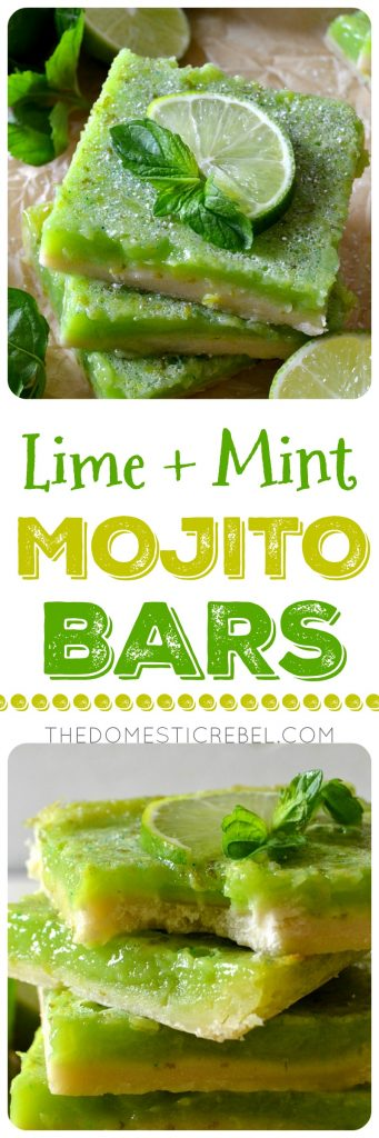 LIME + MINT MOJITO BARS COLLAGE