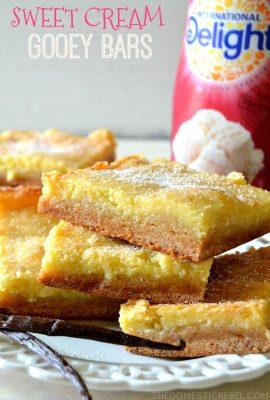 Sweet Cream Gooey Bars