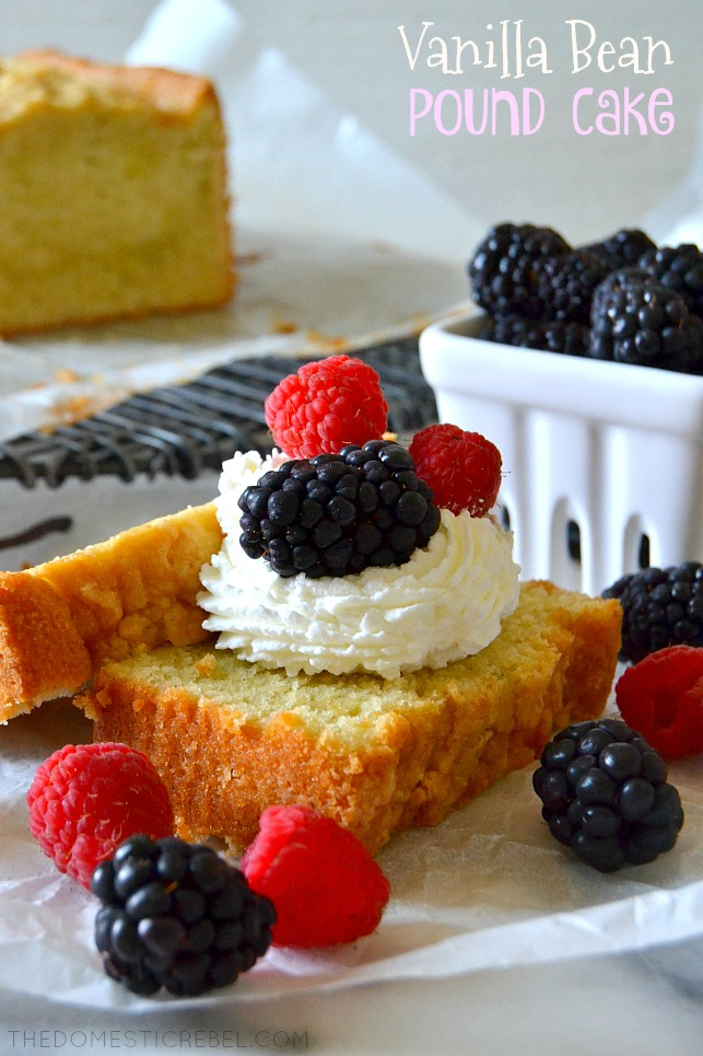 2 SLICES OF POUND CAKE WITH WHIPPED CREAM AND BERRIES