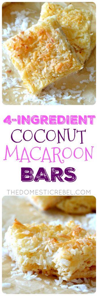 4-INGREDIENT COCONUT MACAROON BARS COLLAGE