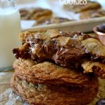 These Salted Nutella-Filled Chocolate Chunk Cookies are marvelous! Soft & chewy cookies with crisp outer edges and stuffed with chocolate chunks and a gooey, molten Nutella center. So easy and tasty!