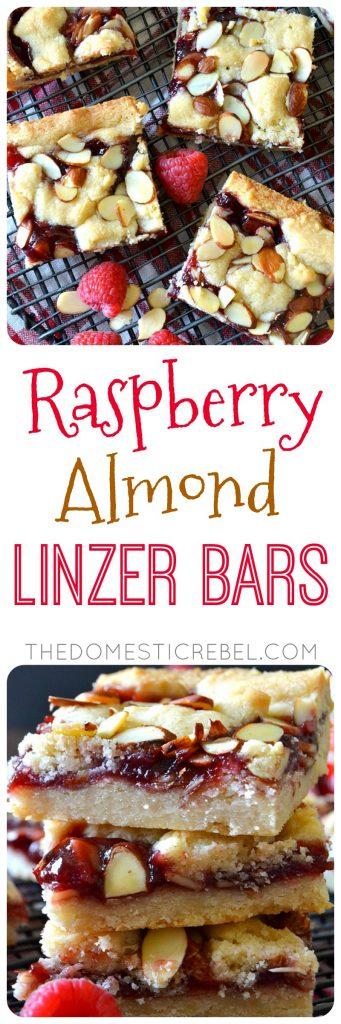 RASPBERRY ALMOND LINZER BARS COLLAGE