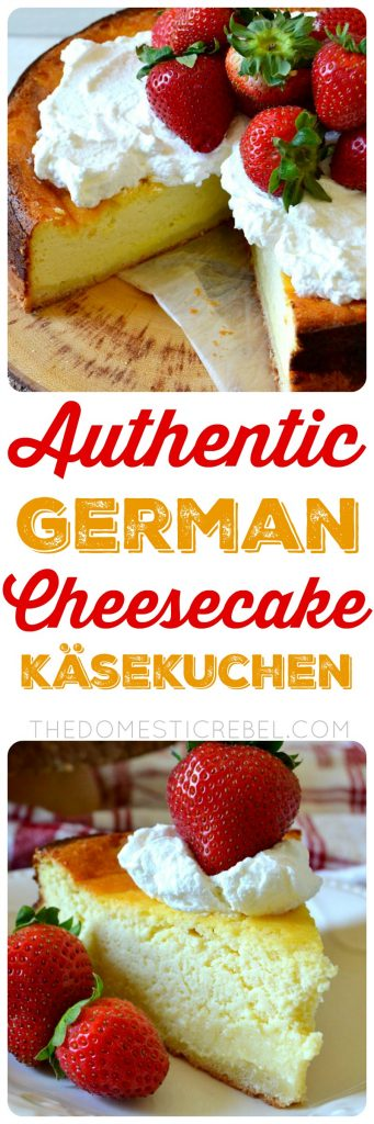 AUTHENTIC GERMAN CHEESECAKE KASEKUCHEN COLLAGE