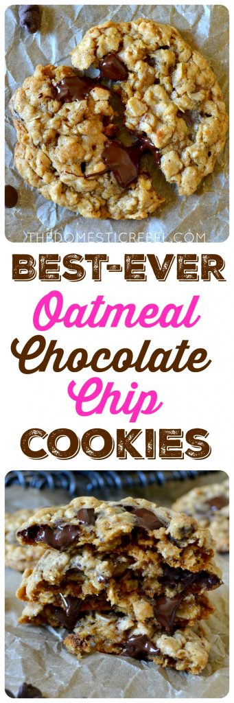 BEST-EVER OATMEAL CHOCOLATE CHIP COOKIES COLLAGE