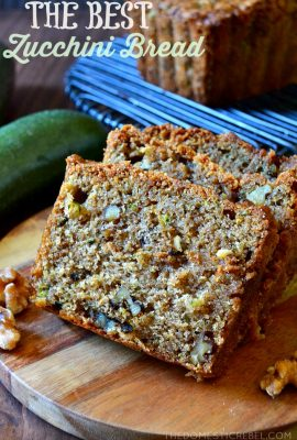 Best Ever Zucchini Walnut Bread