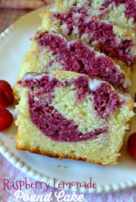 Raspberry Lemonade Pound Cake