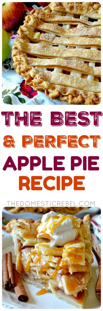 the best & perfect apple pie recipe collage