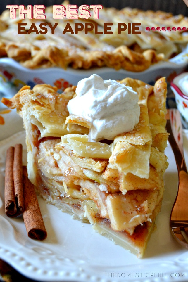 This truly is the BEST and most PERFECT Apple Pie recipe you'll try! A simple shortcut makes this semi-homemade pie a cinch to prepare! Gooey, flavorful, perfectly spiced, tender apple filling with a buttery sugar-sprinkled crust. Save this recipe!