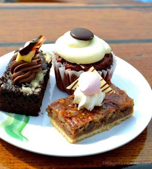 A dessert trio on Ruby Princess