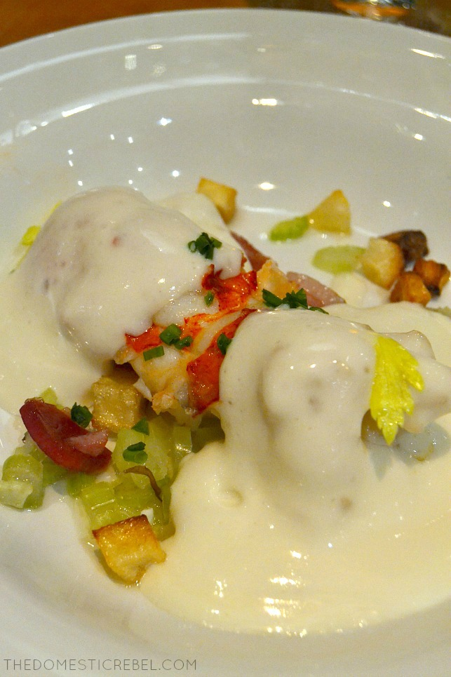 Lobster with beurre blanc from SHARE by Curtis Stone on the Ruby Princess