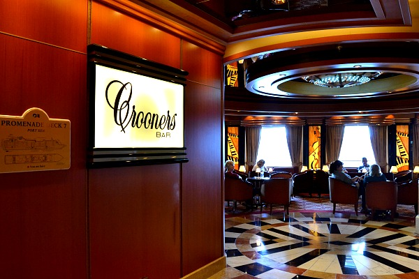 The Crooner's Bar on-board the Ruby Princess. #ad