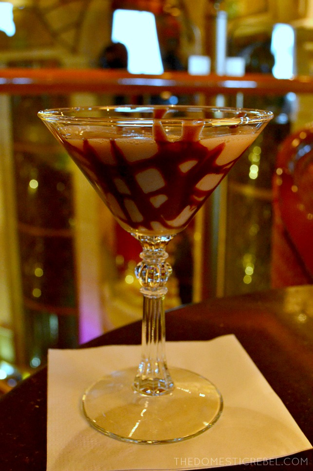 Milky Way Martini at the Crooner's Bar on-board the Ruby Princess. #ad