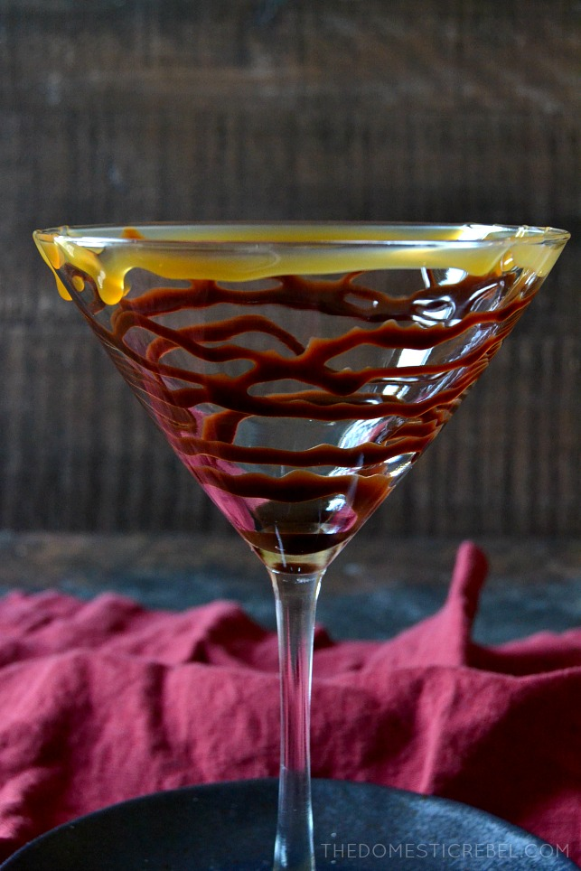 This Milky Way Martini tastes JUST like the one served onboard the Ruby Princess cruise ship! Creamy, ultra chocolaty with a smooth caramel finish in a chocolate & caramel-drizzled glass. So elegant and delicious!