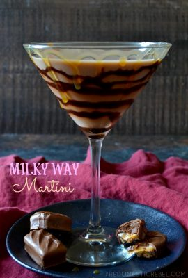 The Ruby Princess Milky Way Martini