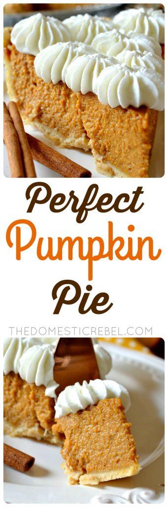 perfect pumpkin pie collage