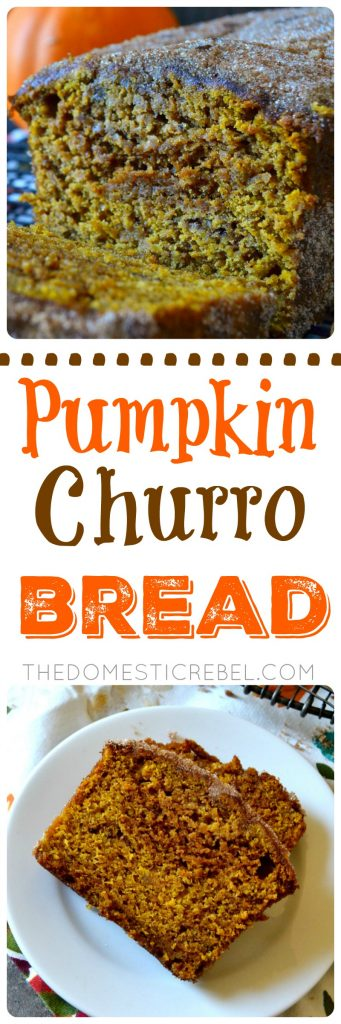 pumpkin churro bread collage