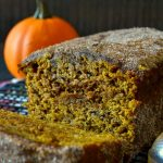 This Pumpkin Churro Bread combines a moist and fluffy pumpkin spice bread with a crisp outer cinnamon sugar coating, very similar to a churro! Super flavorful, easy, and sure to please a crowd!