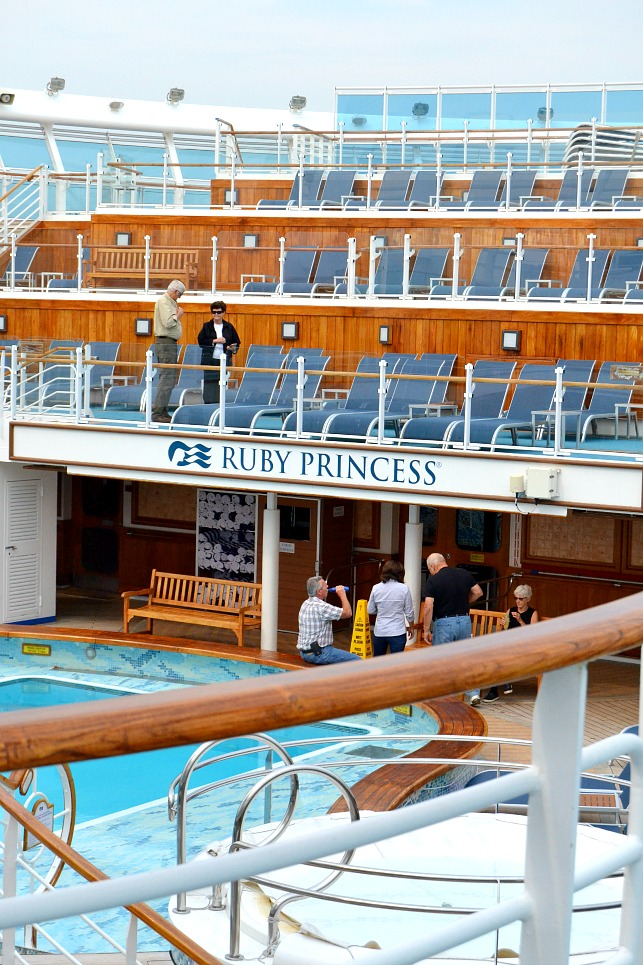 On-board the Ruby Princess.