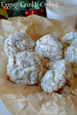 Eggnog Crinkle Cookies