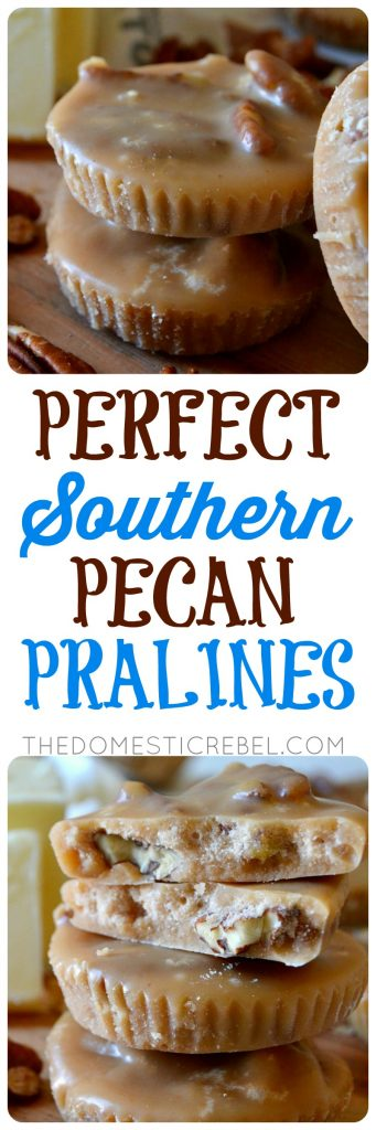 perfect southern pecan pralines collage