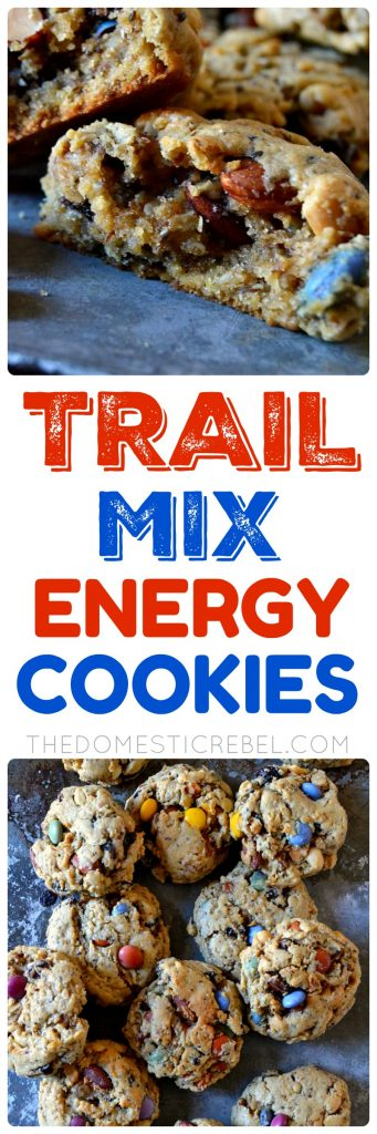 These Trail Mix Energy Cookies are filled with good-for-you ingredients and healthier swaps! Loaded with chia seeds, flaxseed, peanut butter, oats and trail mix, they'll keep you fuller for longer without sacrificing amazing, fresh-baked flavor!