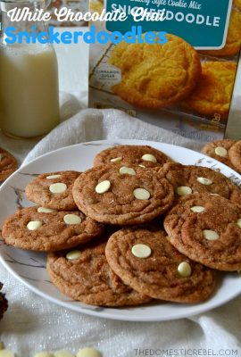 White Chocolate Chai Snickerdoodles