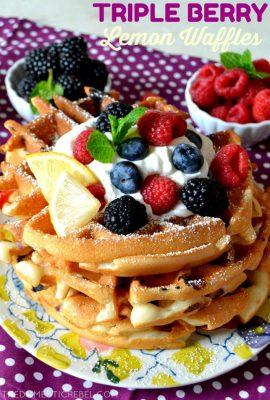 Triple Berry Lemon Waffles