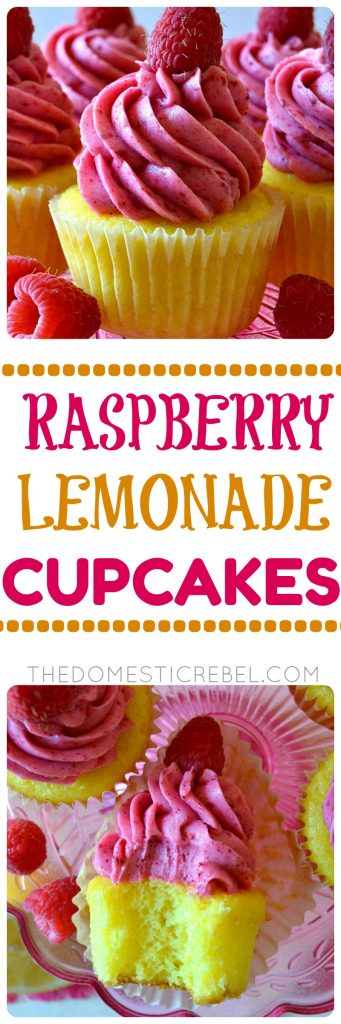 These Raspberry Lemonade Cupcakes are bursting with fresh, bright, zesty flavor from real raspberries in the frosting and a moist, tender lemon-flavored cake!