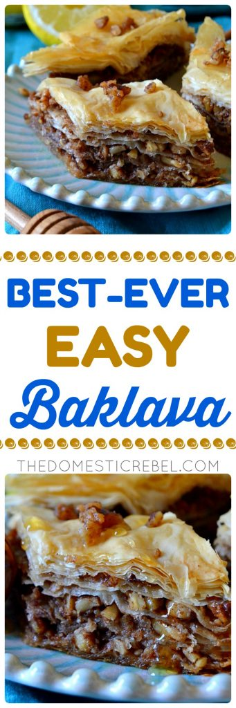 best-ever easy baklava collage
