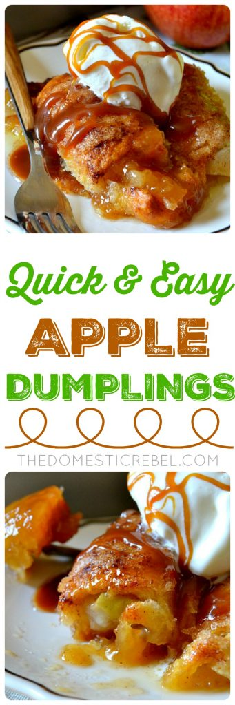 Quick & Easy Apple Dumplings collage