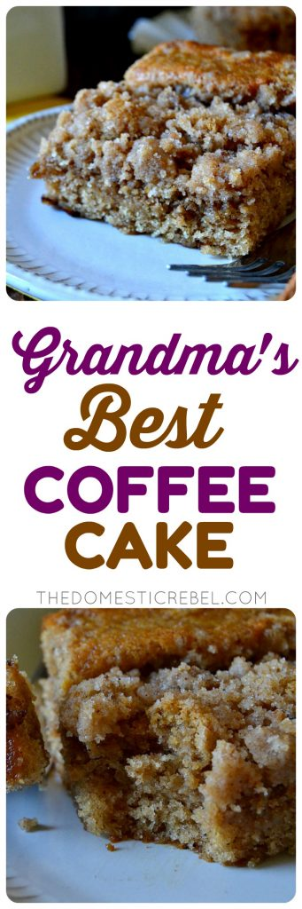 Grandma's Best Coffee Cake collage