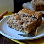 This recipe has been a 3-generation family favorite for the BEST COFFEE CAKE! Buttery, tender streusel and cake flavored with spices and vanilla. Super easy, one bowl, and a total crowd-pleaser!