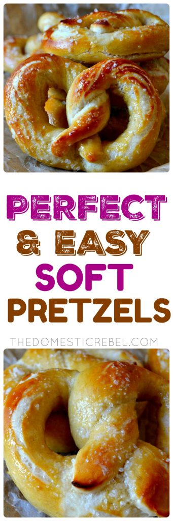 Perfect & Easy Soft Pretzels collage