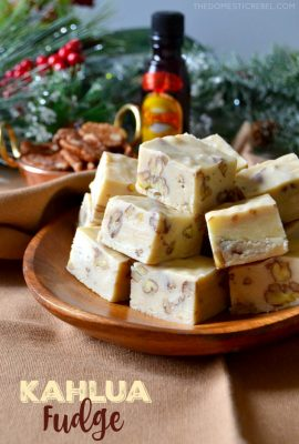 Easy Kahlua Fudge