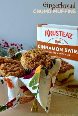 Gingerbread Crumb Muffins