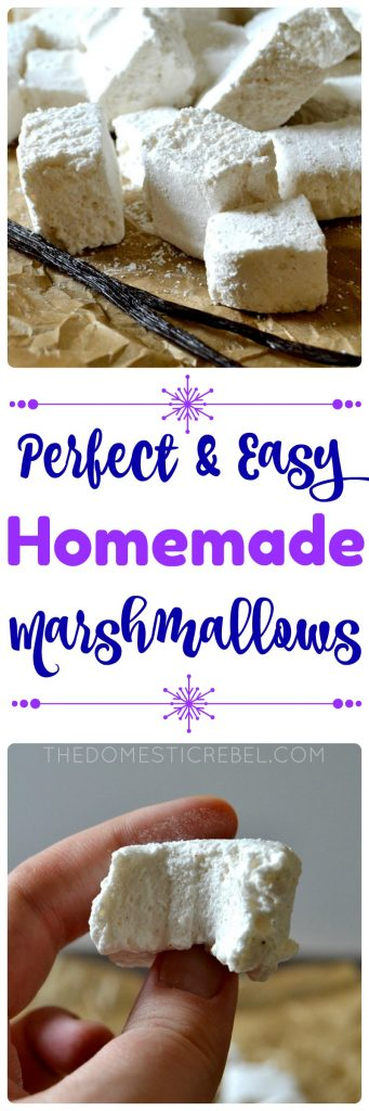 Perfect & Easy Homemade Marshmallows collage