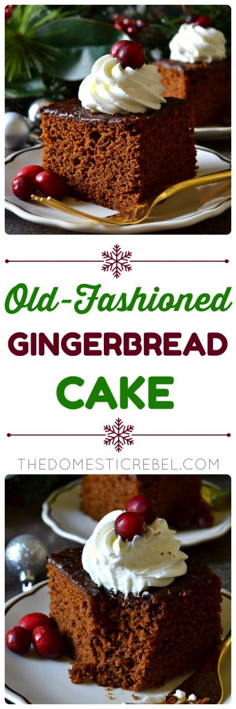 Old-Fashioned Gingerbread Cake collage
