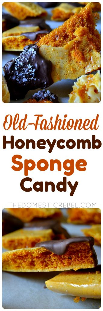 Old-Fashioned Honeycomb Sponge Candy collage
