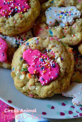 Circus Animal Sprinkle Cookies