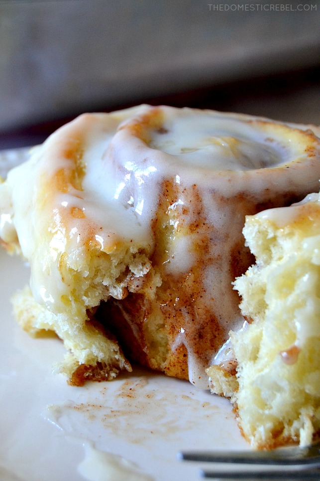 These Incredible Cinnamon Rolls are my favorite recipe for fat, fluffy, soft and super cinnamon-y rolls the whole family will love! Super gooey and sweet with a cream cheese glaze, they truly are incredible!