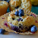 These Healthier Blueberry Muffins are low-cal, low-sugar and low-fat but HIGH on flavor! Supremely moist and tender, they're packed with juicy pockets of fresh blueberries in every bite! No one will know these indulgent muffins are lighter!