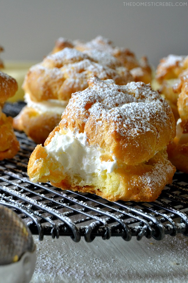 If you thought cream puffs were difficult, think again! These SUPER SIMPLE CREAM PUFFS are so unbelievably easy and they come together quickly! Tasty, sweet, creamy and delicious!