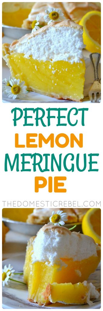 This Perfect Lemon Meringue Pie is the only recipe you'll need! If you're intimidated by meringue pies, don't be! This recipe is super simple, comes together easily and most importantly, is DELICIOUS with a sweet, tart lemon custard and a fluffy and light meringue topping!