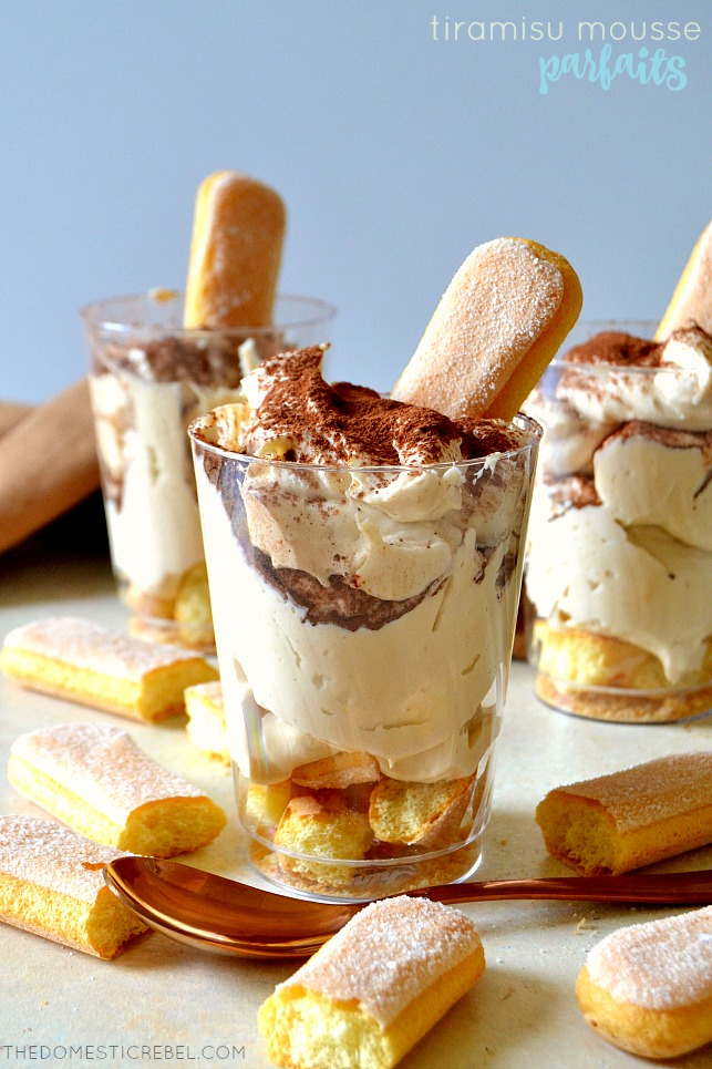 These easy, fast TIRAMISU MOUSSE PARFAITS come together in minutes and taste just like tiramisu but in a creamy, dreamy mousse! They taste EXACTLY like Sabatini's Tiramisu on-board the Caribbean Princess cruise ship! So delicious!