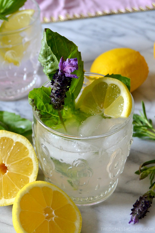 This Lavender Basil Gin & Tonic is refreshing, sparkling, light and so delicious with a hint of sweetness and lots of herbaceous, earthy flavors! It perfectly embodies the nurturing spirit of loving Cancers in my Zodiac Cocktail Series!
