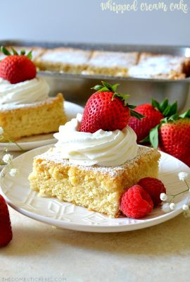 Old-Fashioned Whipped Cream Cake