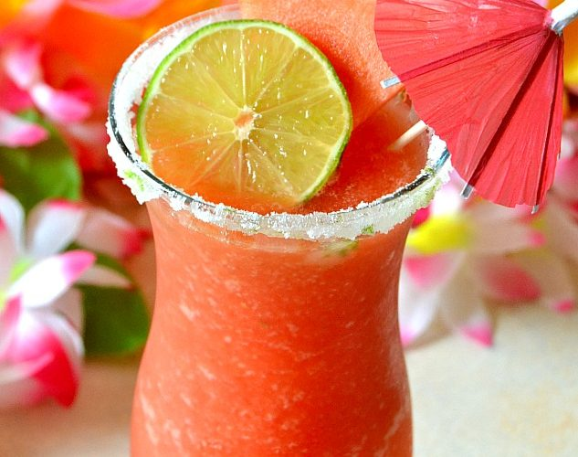 Easy Watermelon Slushies (Cocktail & Mocktail Options!)
