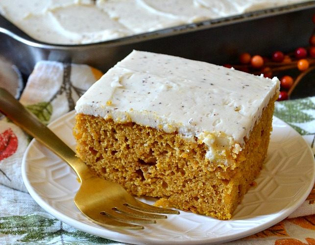 Best Pumpkin Cake with Brown Butter Maple Frosting